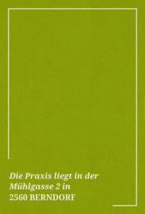 Die Praxis in Berndorf